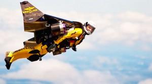 "AMAZING ""Jetman"" Flies Circles Around A B-17"