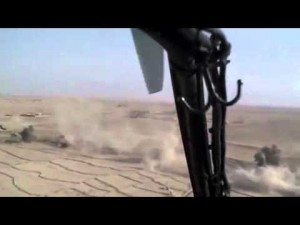 KIOWA: Co-Pilot Taking Shots at Taliban with M4 Rifle
