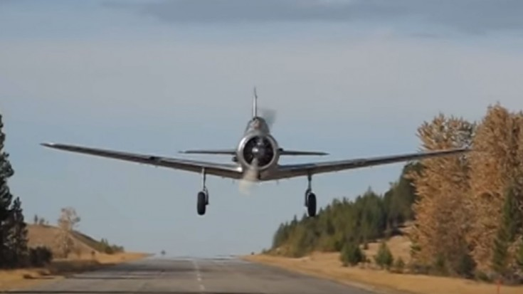 Wwii era plane comes straight at the cameraman might make you flinch