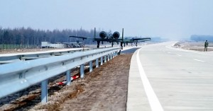 A-10 Lands On Highway In Germany, Thanks To World War II Ideas