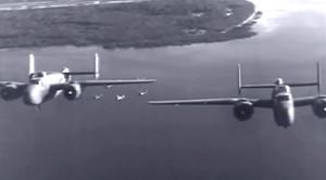 Stunning B-25 Mitchell Footage Of Low-Level Borneo Raid