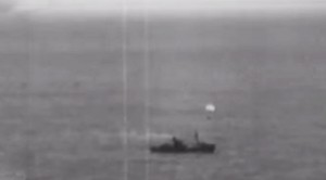 German Pilot Shot Down By AA Fire Lands Next To Ship He Just Attacked