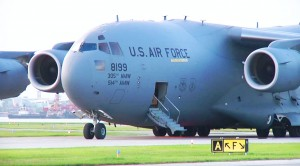 C-17 Accidentally Lands On Tiny Short Airstrip-Now Has To Take Off