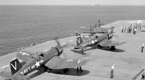 Corsair Catapult Launches And Strafing Runs During Korean War