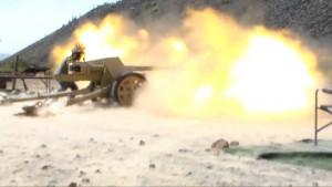 Firing With The German PaK-40 75mm Anti-Tank Gun