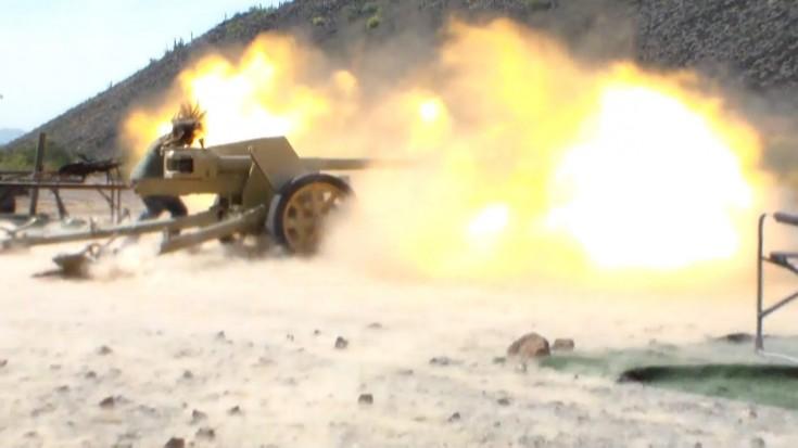 German 50 Mm Anti Tank Gun: Firing With The German PaK-40 75mm Anti-Tank Gun