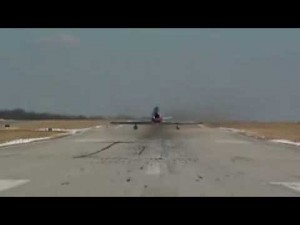 Incredibly LOW F-86 Sabre Takeoff