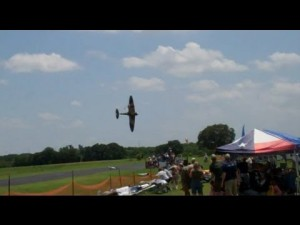 P-47 and Spitfire RC Collide and Crash Into The Crowd!