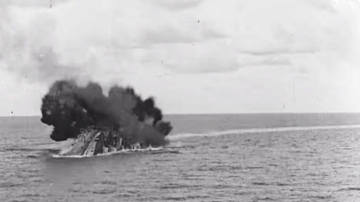 once censored footage of hms barham exploding is