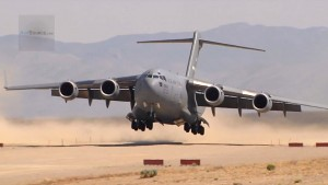 C-17 Lands On Dirt So Smoothly The Wings Barely Moved
