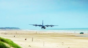 C-130 Landing On The Beach With Interior/Exterior Shots!