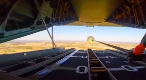 C-130 Airdrops Heavy Equipment With A GoPro