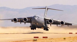 C-17 Landing On Makeshift Runway Kicks Up Enough Dirt To Kill Someone