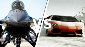 F-16 Fighting Falcon VS. Lambo Aventador | Who Takes It?
