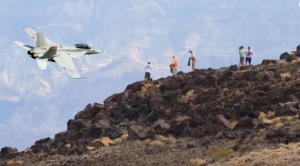Campers Go Crazy When Pilots Show Off Inside Death Valley