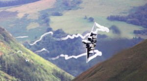 F-15s Fly 250 Ft. From Ravine Walls And Buzz Some Lucky People