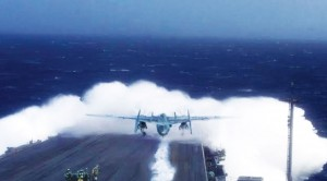 Plane Plows Straight Into Massive Wave On Takeoff