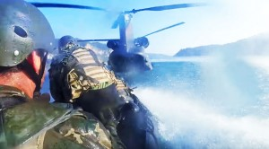 Chinook Floods And Swallows Up Special Forces Boat