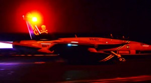 Hornets Taking Off From A Carrier At Night Is SPECTACULAR