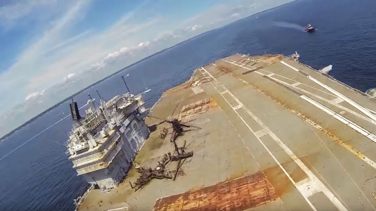 USS Saratoga Got One Final Landing, But It's Not What You'd Think | World War Wings Videos