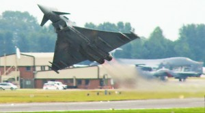 Typhoon Pilot Nearly Hits Tail Coming Out Of Loop