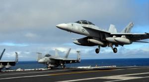 A Rare Look At A Hornet Hitting The Barricade-Front Gear Didn't Extend