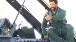 Hugh Jackman Honored To Fly In One Of The Best Jets Ever