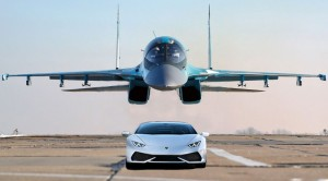 Russian Fighter Races A Lamborghini | Who Takes It Initially?