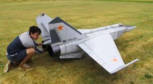 Young Kid Gets NERVOUS Landing World's Biggest RC MiG 25
