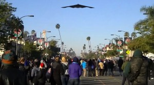 People Lose It When A B-2 Flies By Randomly