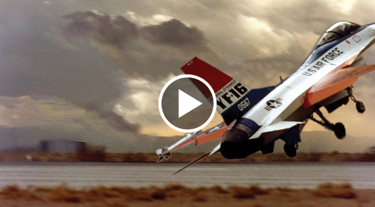 Footage Shows F 16 S 1st Flight Gone Completely Haywire