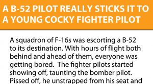 A Bomber Pilot Really Sticks It To A Cocky Fighter Pilot
