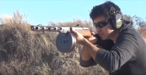 PPSh-41 Full Auto Shoots Incredibly Fast!