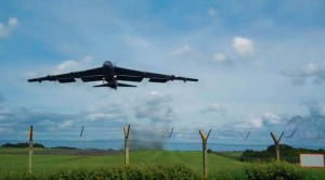 B-52 Buzzes Fence As Cameraman Completely Loses His Mind