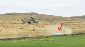 Chopper Gets A Bit Too Close To Toilets–What A Mess