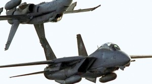 Inverted F/A-18 On Top Of An F-14 Is The Coolest S*** You'll Ever See