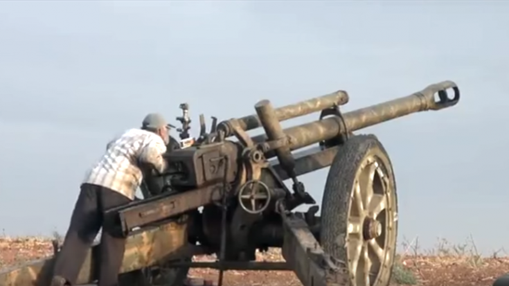 WWII Nazi Artillery Gun Used On Syrian Battlefield – I Can't Believe This | World War Wings Videos