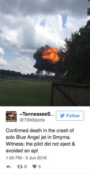 Blue Angels Pilot Dead After Crash in Tennessee | SpinSheet  |Blue Angel Crash Death