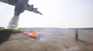 Fire Bomber Drops 11,000 Gallons Of Water–Cameraman Gets Hit Too