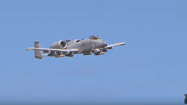 A-10 Thunderbolt II Firing Gun And Rockets Is Brain ...