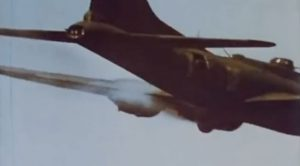 Gunners Defend B-17 From Nazi Fighters After Engine Catches Fire