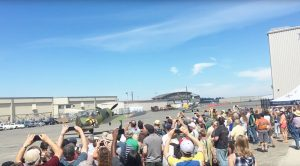 Huge Crowds Gather For Luftwaffe Day – Trio Of German Fighters Roar Their Engines