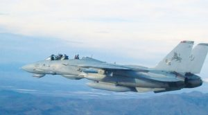Passenger Of F-14 Gets Confused, Grabs Handle While Inverted