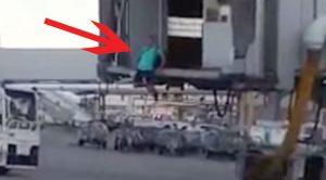 Breaking | Man Jumps Off Jet Bridge, Runs Tarmac And Boards Plane