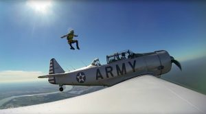 Skydiver Leap Out Of T-6 Texan – Zero G Leap Is Insane