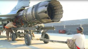 F-16 Surgery – Pulling Out The Powerhouse Engine