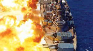 Rare Footage Of WWII's USS Iowa Firing Her Main Guns
