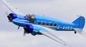 Avro Anson 19 In A Tight Low-Speed Aerobatic Display
