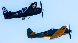 Hawker Fury Joins Bearcat In A Powerful Tandem Flight