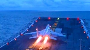 Breaking| Russian Fighter Crashes Near Aircraft Carrier